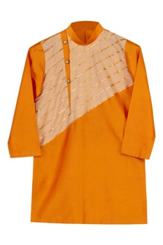 Gota Embroidered Kurta With Dhoti Pants