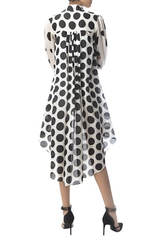 High low dress with polka dots