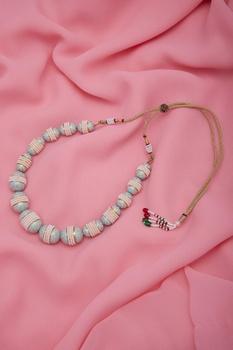 Pearl & meena work necklace