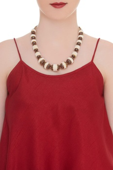 Pearl & meena work necklace