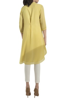 Floral Embroidered High-low Kurta