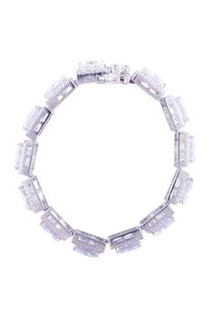 Princess cut sparkling bracelet