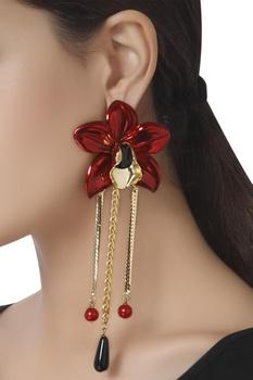 Pop art orchid earrings
