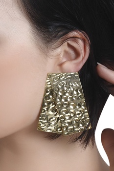 Modern day armor earrings