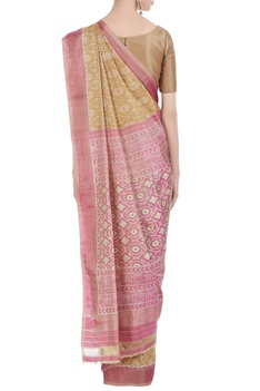 Banarasi silk woven saree with unstitched blouse