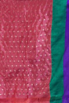 Banarasi silk saree & unstitched blouse