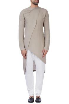 Grey draped kurta