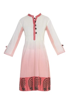 Sequin embroidered printed kurti