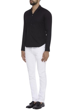 Cotton Loop Collared Shirt