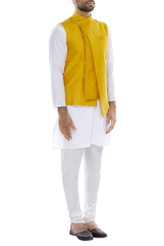 Asymmetrical multi layered nehru jacket