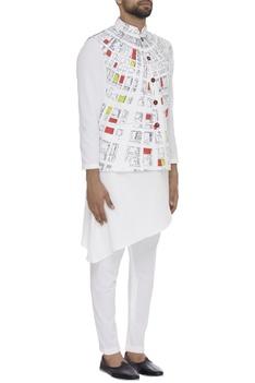 Geometric Dome Digital Printed Nehru Jacket