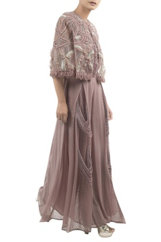 Jumpsuit With Embroidered Cape