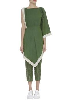 Kaftan Style One Shoulder Sleeve Top