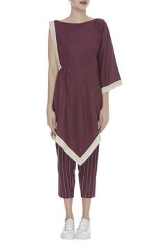 One Shoulder sleeve Kaftan Style Top