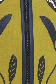 Applique Embroidered Bomber Jacket