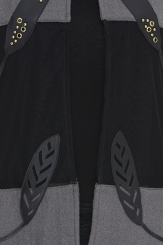 Applique Embroidered Open Jacket