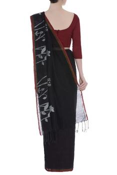 Wild Flower motif  Woven linen Sari