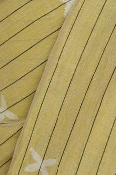 Striped Woven linen Sari