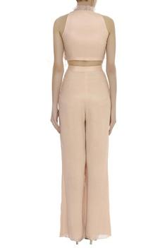 Ruffle Embellished Blouse With Pant