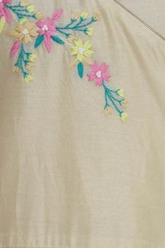 Floral embroidered overlap kurta