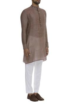 Nehru Collar Buta Embroidered Kurta