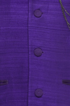 Nehru Jacket With Metal Chain Brooch
