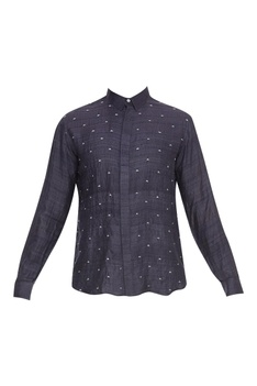 French Knots Collared Shirt