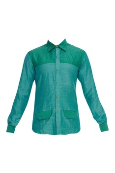 Front Pocket Collared Shirt