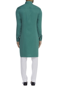 Button down mandarin collar kurta