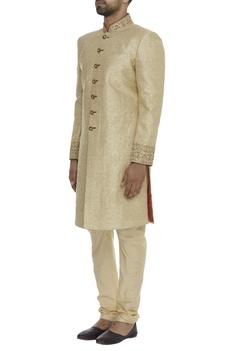 Zardozi Embroidered Sherwani With Churidar