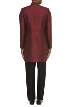 Matka Silk Sherwani With Trouser