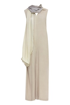 Jumpsuit with attached stole