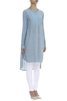 Striped Asymmetric Tunic