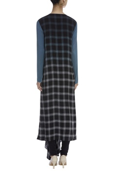 Checkered Asymmetric Tunic