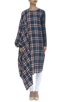 Checkered Kaftan Style Tunic