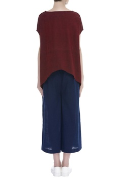 Asymmetric Handloom cotton Blouse