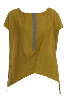 Handloom cotton Asymmetric Top