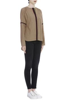 Handloom cotton High Low Full Sleeve Top