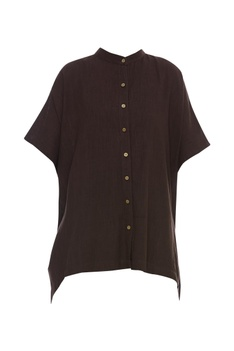 Handloom cotton Shirt with gold buttons