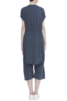 Handloom cotton Jumpsuit with front pockets
