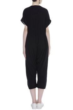 Croped jumpsuit with drawstring