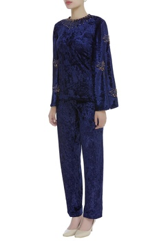 Flared sleeves top with pant