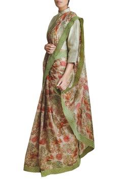 Kadi Print Chanderi Cotton Silk Saree