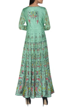 Long printed anarkali kurta