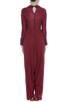 Dhoti Style Embroidered Jumpsuit