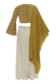 Tie Dye Saree With Blouse & Kamarbandh Baguette