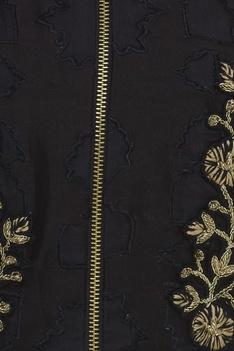 Embroidered Peplum With Dhoti Pants & Kamarbandh Baguette