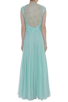 Bird motif Cutdana & Sequin Embroidered Gown