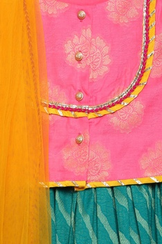 Embroidered blouse & dupatta with dress