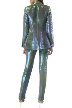 Dual-tone full sleeves blazer jacket